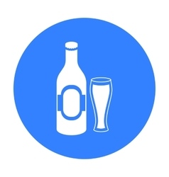 Beer icon in black style isolated on white vector image vector image