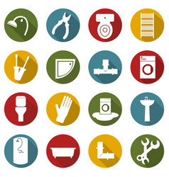 building icons collection vector image
