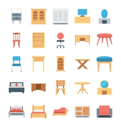 Furniture Colored Icons 2 vector image vector image
