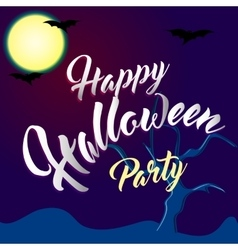Happy Halloween Party Lettering with Spooky vector image vector image