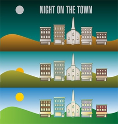 Town infographic 51 vector image