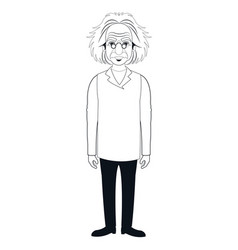 character scientist physical with glasses coat vector image
