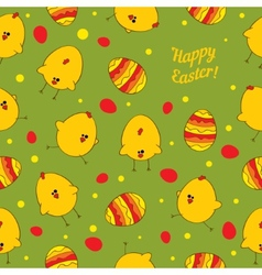 Easter eggs and chickens Abstract seamless vector image vector image