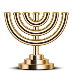 gold menorah vector image