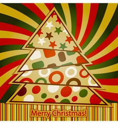 Retro Christmas Greeting Card vector image vector image