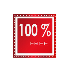 sale 100 free banner design over a white vector image