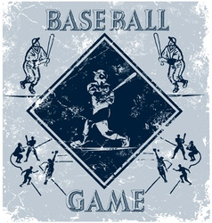 sport game baseball vector image vector image