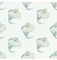 Tile mint green cupcake pattern or background vector image