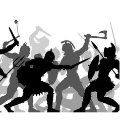 warrior battle cutout vector image