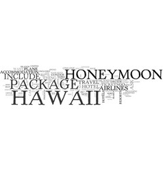 what your hawaii honeymoon package should include vector image vector image