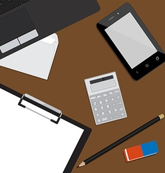 Working place background vector image vector image