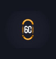 60 th anniversary celebration logo template design vector