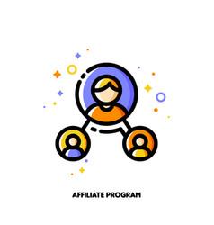 Affiliate marketing partner program or referrals vector