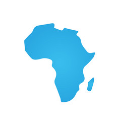 africa icon simple flat symbol blue pictogram on vector image