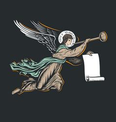 angel god illustration vector image