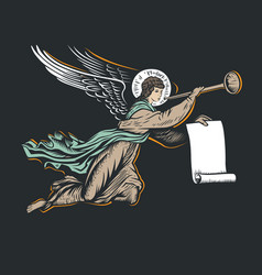 Angel god vector