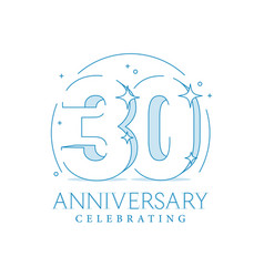 anniversary 30 3d number twenty with sparkles vector image
