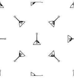 balalaika pattern seamless black vector image