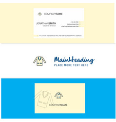 beautiful coat logo and business card vertical vector image