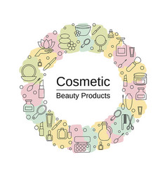 Beauty and makeup concept beauty and makeup vector