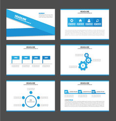 Blue label presentation templates Infographic vector