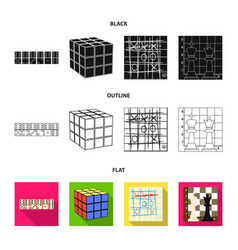 board game blackflatoutline icons in set vector image