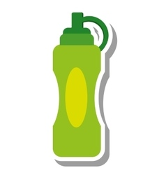 Bottle drink gym isolated icon vector