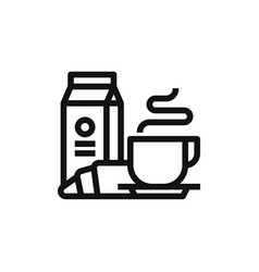 breakfast icon vector image