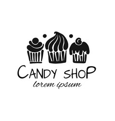 candy shop concept for your design vector image