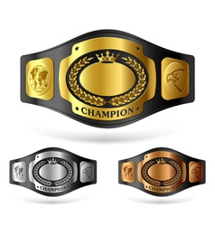 champion belt vector image vector image