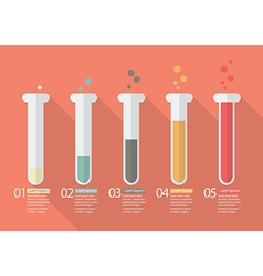 Chemistry Bulb Bar Graph Infographic vector image