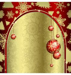 Christmas archway vector