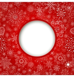 Christmas balls cut the paper vector image