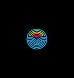 circle and rainbow logo design concept vector image