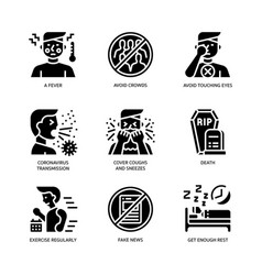 Covid19-19 icons set vector