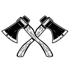 Crossed axes isolated on white background vector