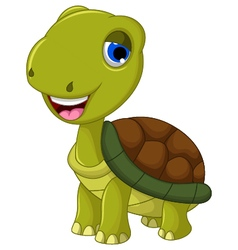 cut cartoon turtle for you design vector image