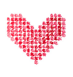 doodle of a heart vector image