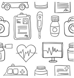 doodle of medical with hand draw vector image