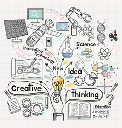 doodles idea diagram conceptual vector image