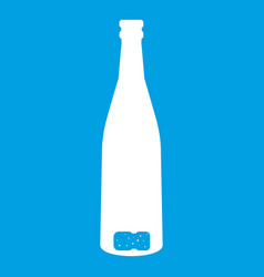 empty wine bottle icon white vector image