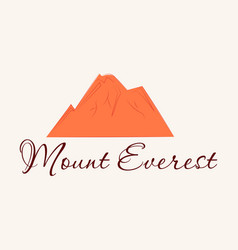 everest - snowbound himalayas mountain label vector image