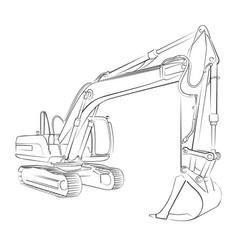 Excavator sketch vector