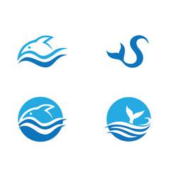 fish logo template vector image vector image