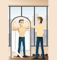 Fitness man vector