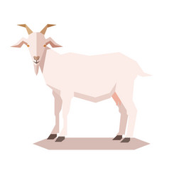 flat geometric goat vector image