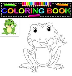 Frog coloring book vector