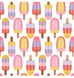 fruity ice cream sorbet and popsicle pattern vector image