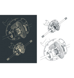 Gear differential vector