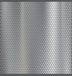 Geometric metallic texture steel mesh industrial vector